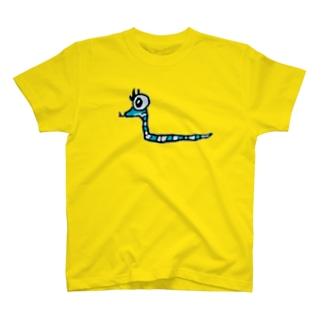 蛇の落書きのやつ T-shirts
