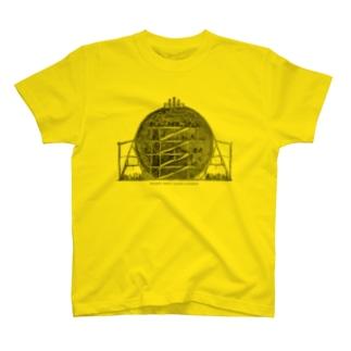 ジェームス·ウィルドのグレートグローブ(地球儀)の内部 - The British Library T-shirts