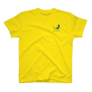ヤモリ シルエット ロゴ ( ダークブルー ) T-shirts