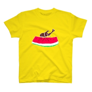 NIKORASU GOの夏デザイン「スイカとカブトムシ」 T-Shirt
