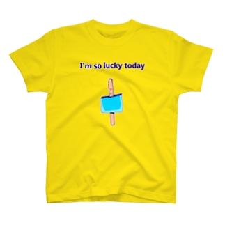 ラッキーデザイン「ついてる」 T-Shirt