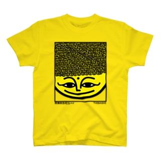 阿弥陀さん(パンチパーマ 小粒) T-shirts