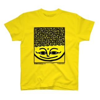阿弥陀さん(パンチパーマ 大粒) T-shirts
