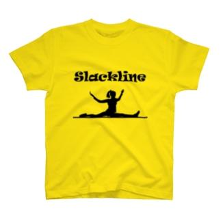 スラックライン(スプレッド) T-shirts
