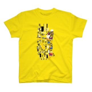 ドットで名画「接吻」 T-shirts