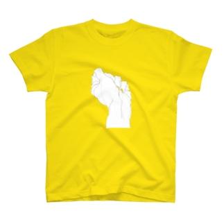にぎりこぶし(透明) T-shirts