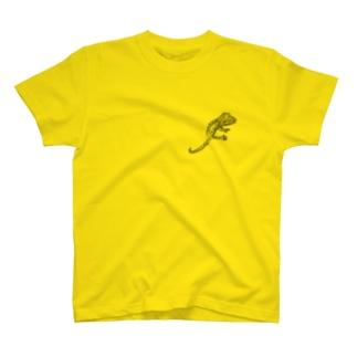 クレステッドゲッコー T-shirts