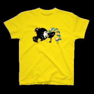 ShikaNiwa.Sandy.Jido.S.Alice.Ori.S.のwitch & cat T-shirts
