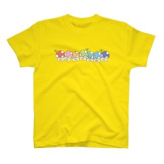 行列レインボーきのこ T-shirts