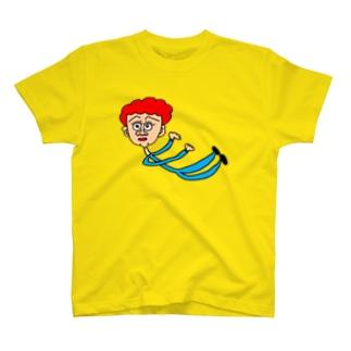 落ちるおばさん T-shirts