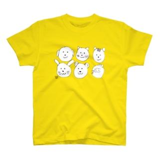 どうぶつたくさん T-shirts