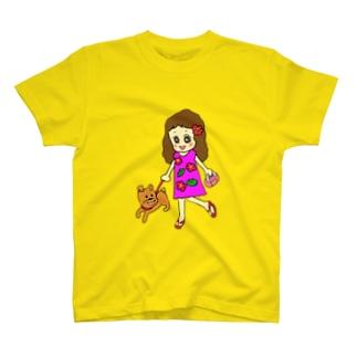 お散歩フラガール T-shirts