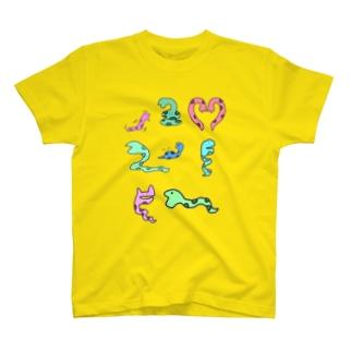 カラフルヘビくん2 T-shirts