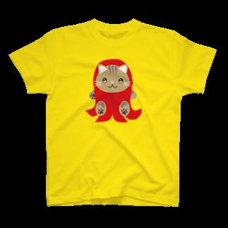 株式会社猫 (Aloha Mac Creation)の株式会社猫 まじお店長お弁当シリーズ ウィンナーver T-shirts