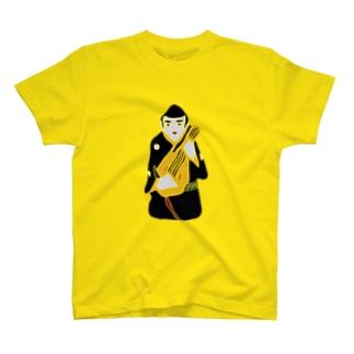 帖佐人形 琵琶法師 T-shirts