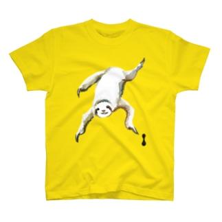 墨絵のナマケモノ T-shirts
