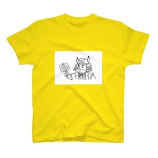 戦国武将!?『武者ブタ様』 T-shirts