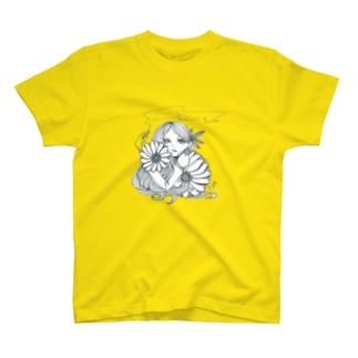 花と煙 T-shirts