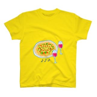 楽しいピザ・タイム T-shirts