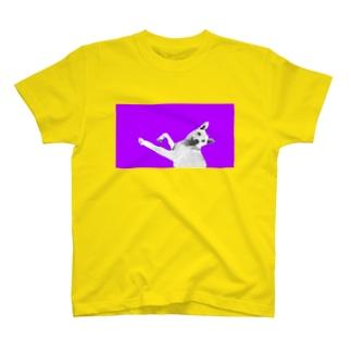 Purple Mix Dog 雑種犬 プリントTシャツ T-shirts