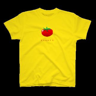 似顔絵 KURI屋のトマト T-shirts