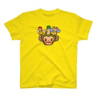屋久島弁シリーズ 2:ヤクザル・ヤクシカ・ウミガメ・縄文杉キャラ T-shirts