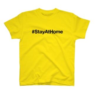 月曜は家にいようTシャツ T-shirts