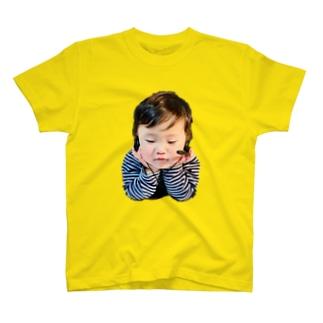 オンライン飲み会に参加する息子 T-shirts