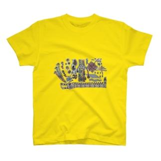 キリンさんぼん他 T-shirts