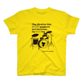 MUSIC BEAT 猫ドラム T-shirts