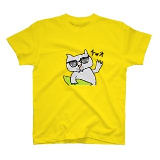 茅ヶ崎在住のサーファー猫 T-shirts