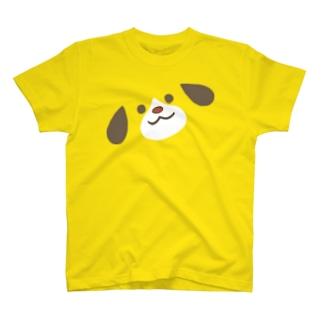 ほんわか通りのわんこさん(BIG FACE) T-shirts