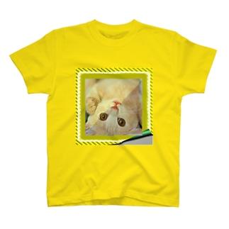逆さニャンコ(クッキー) T-shirts