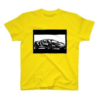 マクラーレンMP4切り絵デザイン T-shirts