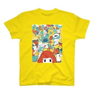 おてほんちゃんと動物たち T-shirts