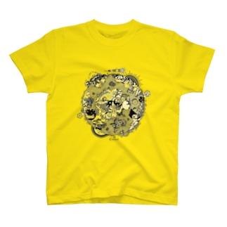 第三惑星第三者イラスト(黒) T-shirts