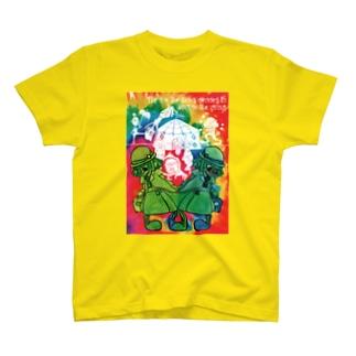 tottoの双子のピエロ(ラスタカラー) T-shirts