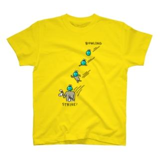 ボウリング ピンをへし折る T-shirts