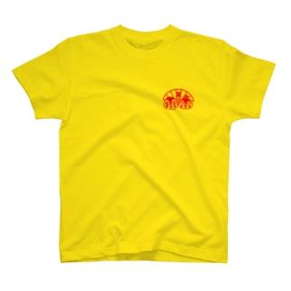 翼仲良しすずめ(赤プリント) T-shirts