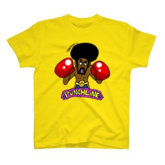 ブラックボクサーのパンチライン T-shirts