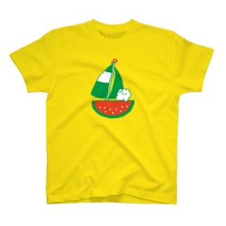 夏休み(スイカヨット) T-shirts