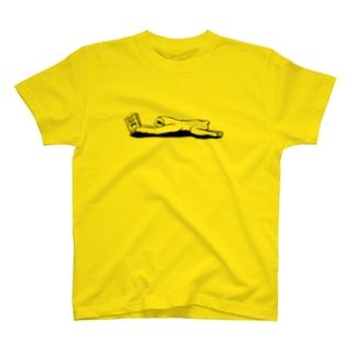 本と、なまけもの(モノクロ) T-Shirt
