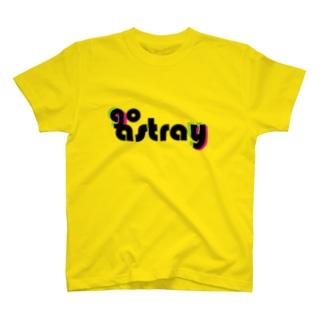 go astray ずれたロゴ 淡色ベース用 T-shirts