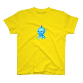ゼンマイ式のたこ T-shirts