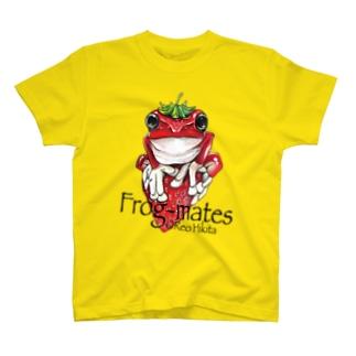 苺乗りイチゴガエル T-shirts