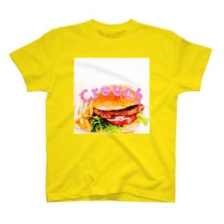 #X8 Crouch ハンバーガーTシャツ T-shirts