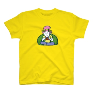 Gaming Girl(ビッグイラスト)/濃色Tシャツ T-shirts
