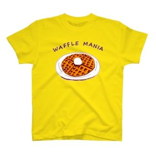 スイーツの中でも特にワッフルが好きという人限定デザイン「ワッフルマニア」 T-shirts