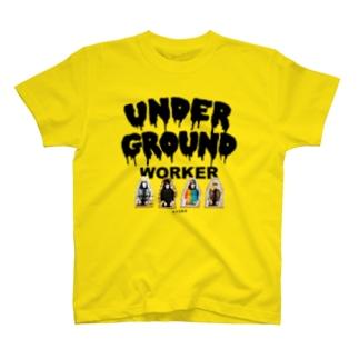 地下労働者4人集合Tシャツ T-shirts