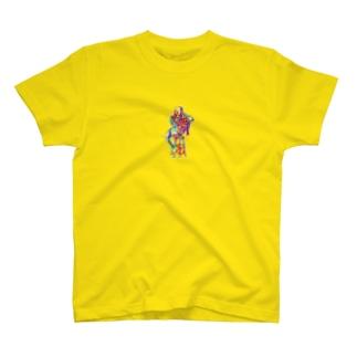 グリッチ・シルエット T-shirts